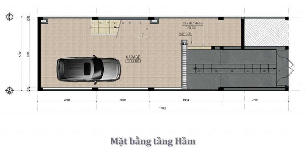 Mặt bằng tầng Hầm Dự án Little Village Phạm Văn Đồng Thủ Đức