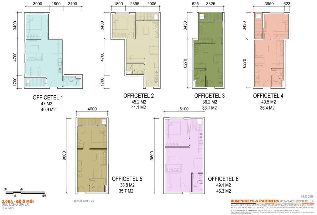 Thiết kế OfficeTel Dự án Elysium Tower Gò Ô Môi Quận 7