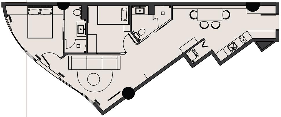 Thiết kế Căn hộ 2 Phòng ngủ Dự án The Panorama Đà Lạt