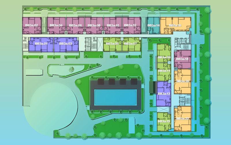 Mặt bằng Dự án căn hộ New City - Block Babylon