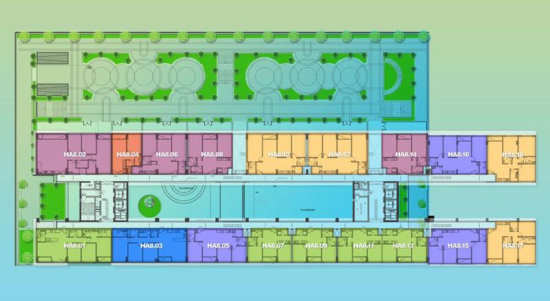 Mặt bằng Dự án căn hộ New City -Block Hawaii: