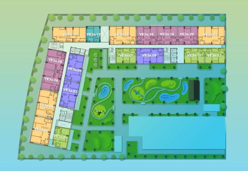 Mặt bằng Dự án căn hộ New City -Block Venice