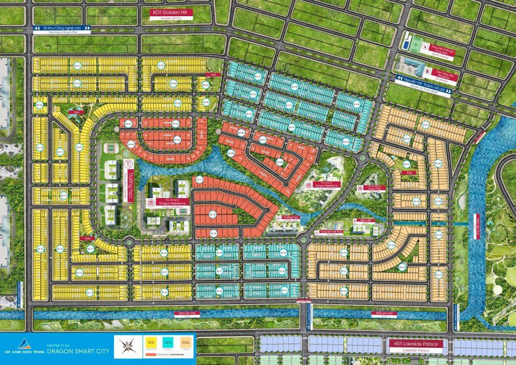 Mặt bằng phân lô Dự án Dragon Smart City Đà Nẵng