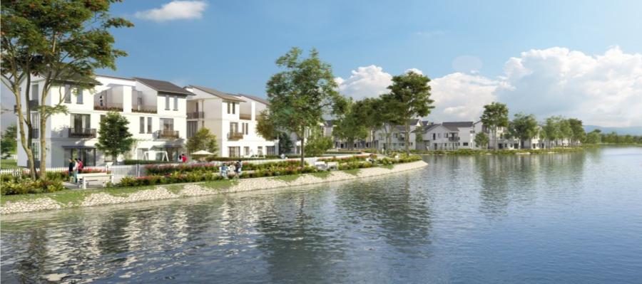 Hồ sinh thái rộng lớn tại nội khu dự án Đất Nam Riverside