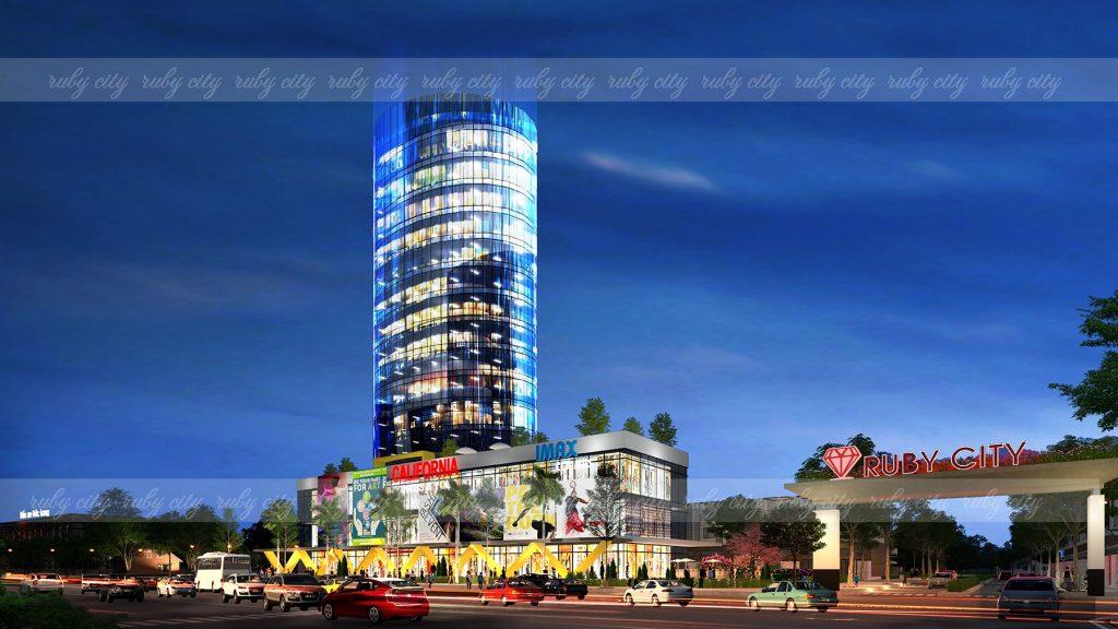 Phối cảnh trung tâm thương mại tại Dự án Đất nền Ruby City Bảo Lộc