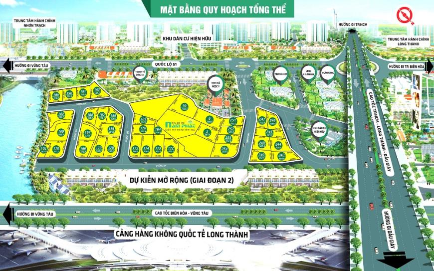 Dự án khu đô thị Nam Phát Long Thành Đồng Nai
