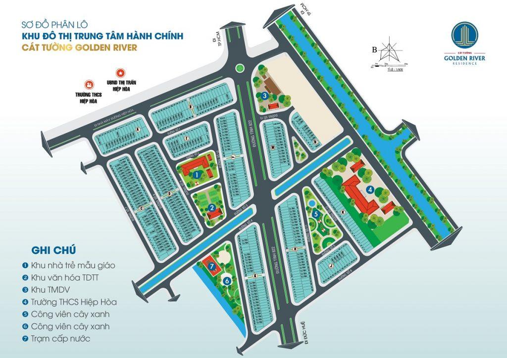 Sơ đồ phân lô Dự án Cát Tường Golden River Residence