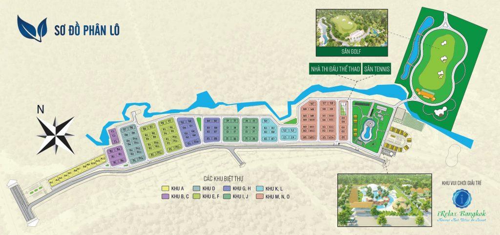 Mặt bằng Dự án Bình Châu Green Garden Villa
