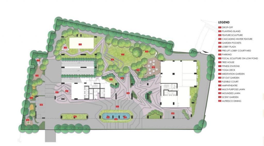 Mặt bằng tổng thể Dự án LaCosmo Residences Tân Bình