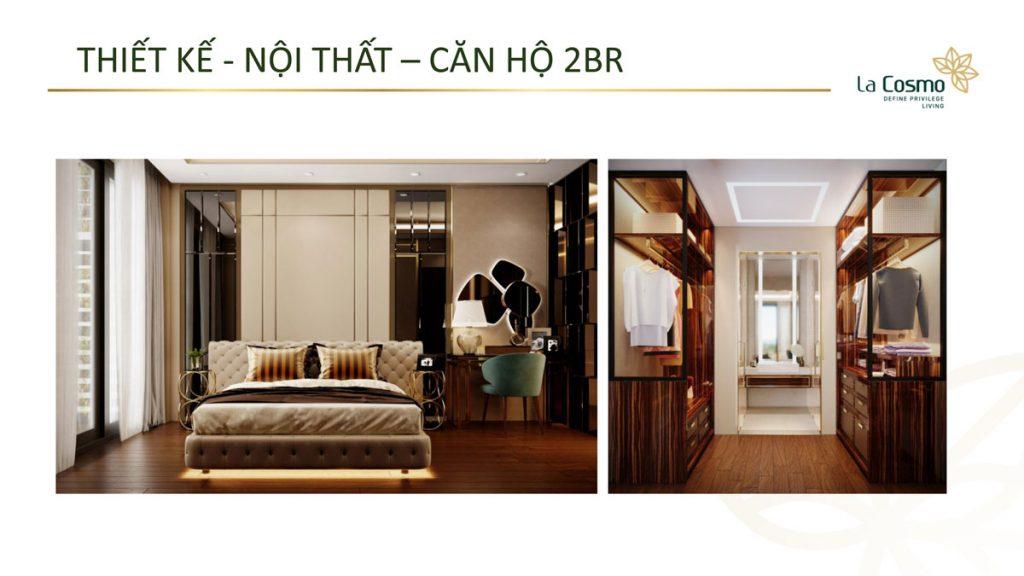 Nội thất căn hộ La Cosmo Residences 2 phòng ngủ