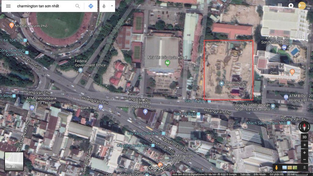 Vị trí Dự án căn hộ Charmington Tân Sơn Nhất Phú Nhuận