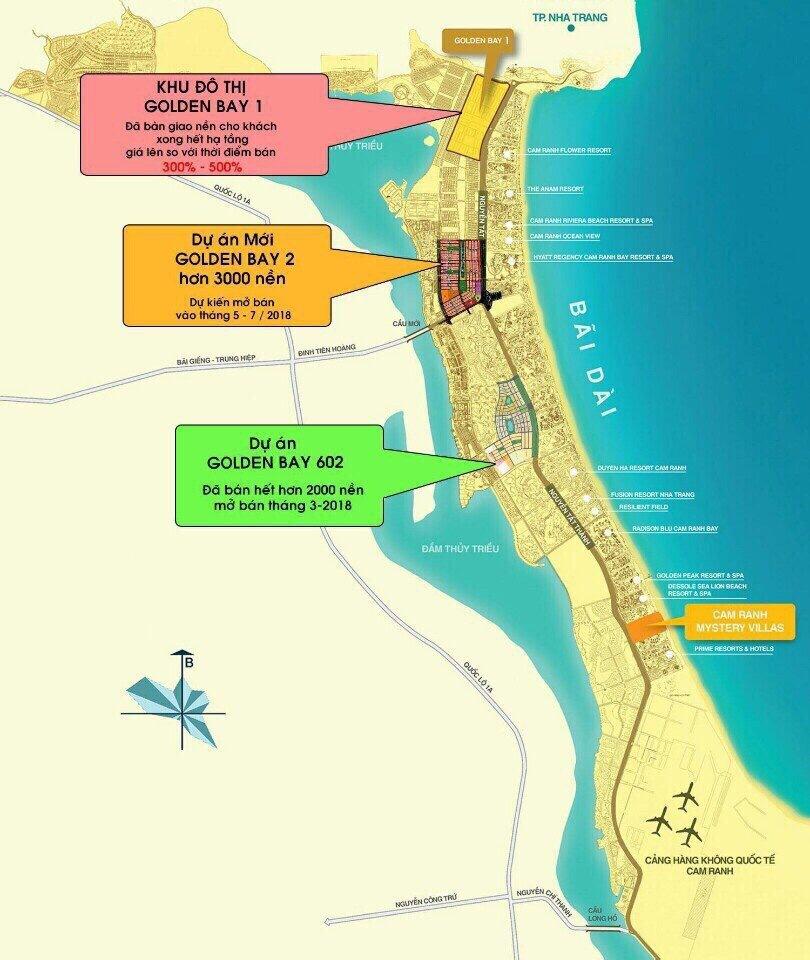 Vị trí Dự án Đất nền Golden Bay 3 Cam Ranh Hưng Thịnh