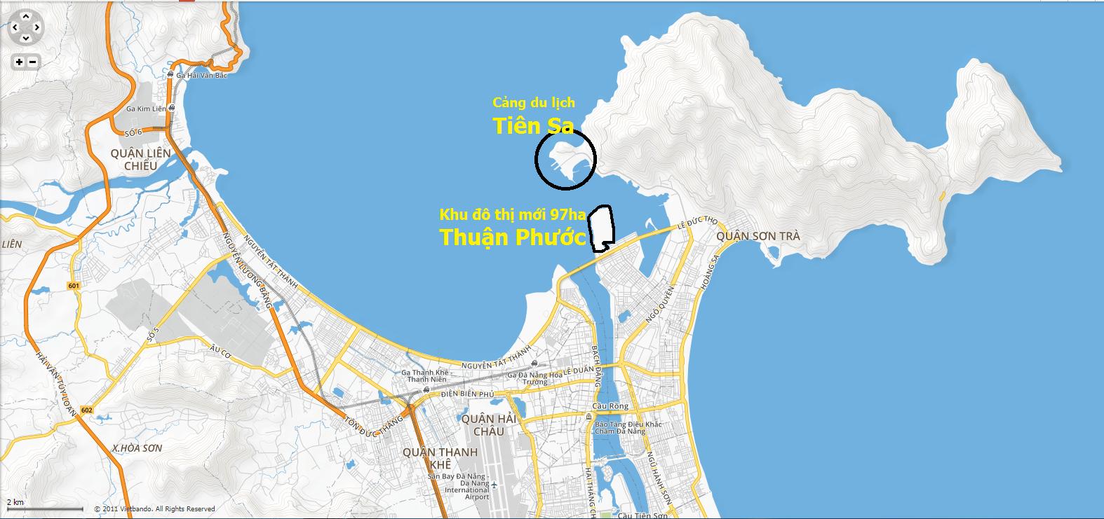 """Vị trí Kim Long Ocean """"lưng tựa núi và 2 mặt giáp biển"""""""
