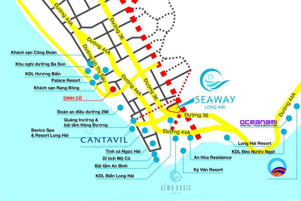 Vị trí Dự án Seaway Long Hải Vũng Tàu