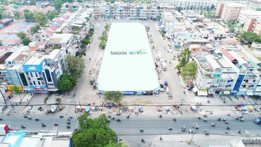Hình ảnh Vị trí thực tế Dự án SaiGon SkyView Quận 8