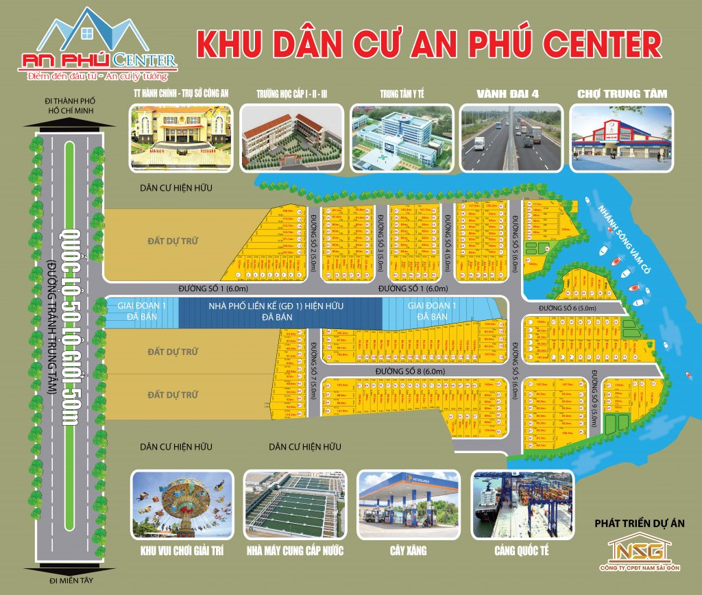 mat bang phan lo du an an phu center long an