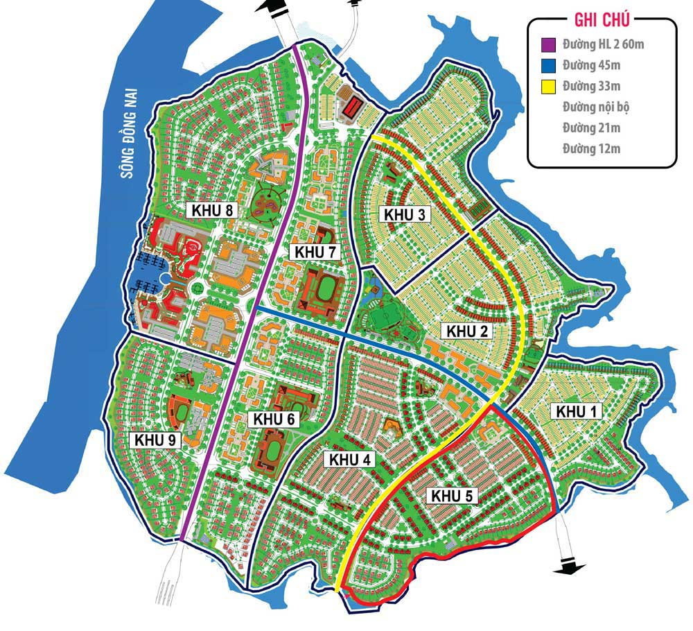 mat bang tong the du an long thanh new city