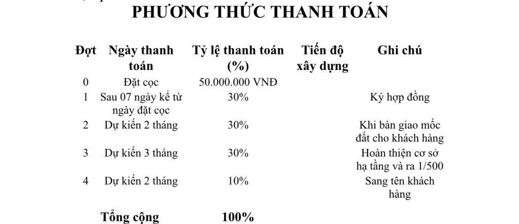 phuong thuc thanh toan du an ba diem center