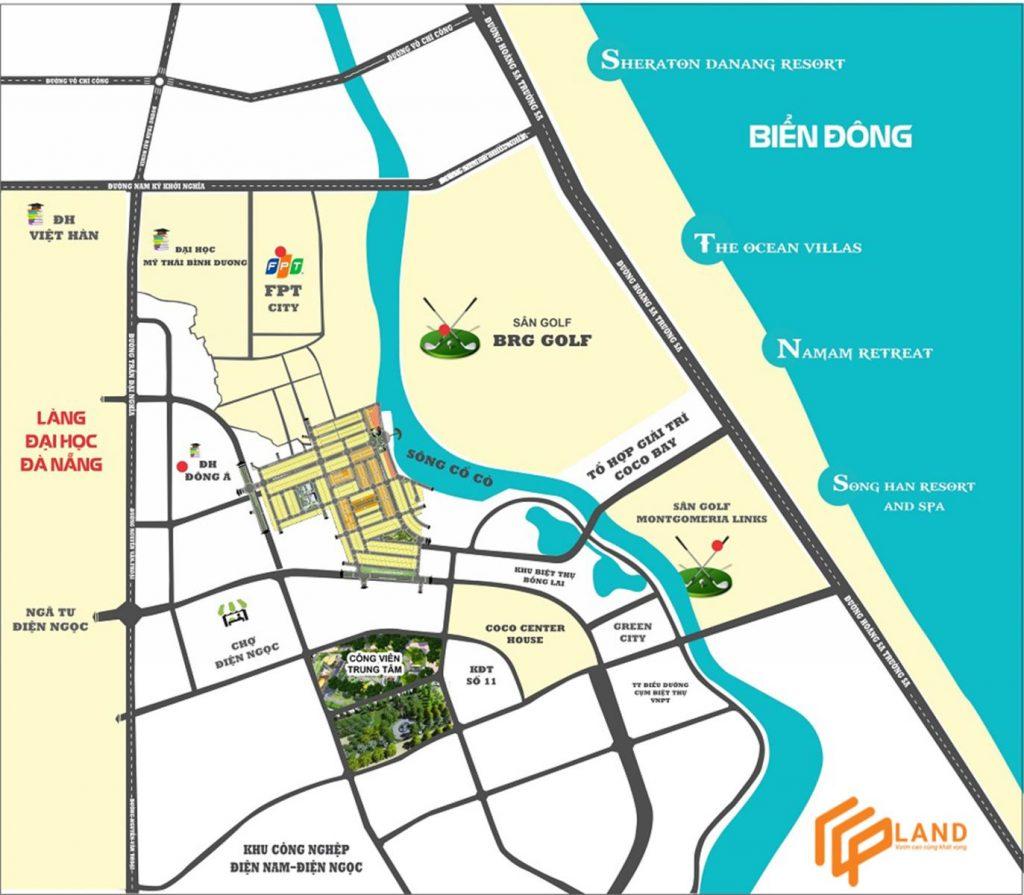 Dự án Coco Complex RiverSide tiếp giáp với khu vực sung quanh