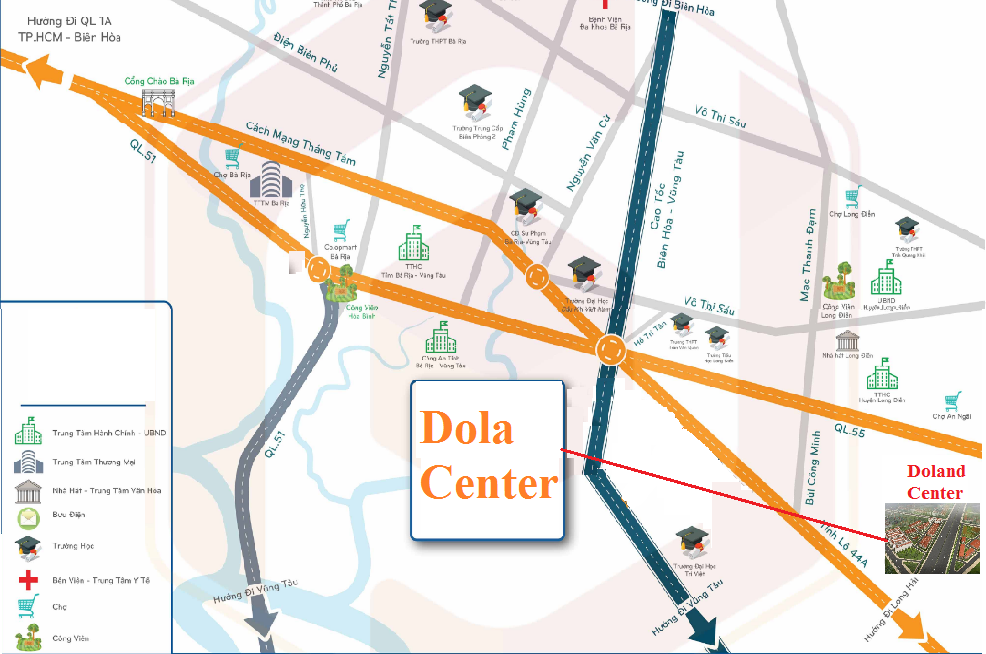 vi tri du an dola center