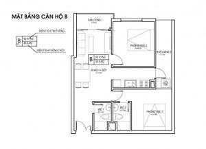 thiet ke can ho B du an FLC Green Apartment