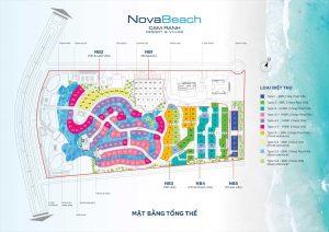Mặt bằng Dự án Nova Beach Cam Ranh