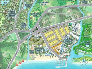 Sơ đồ phân lô Dự án Đất nền Ocean Gate Bình Châu