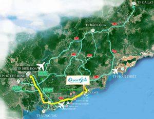 Vị trí Dự án Đất nền Ocean Gate Bình Châu