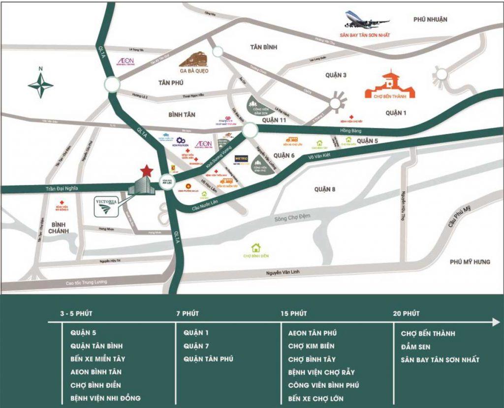 Vị trí Dự án Căn hộ Chung cư Victoria Garden Trần Đại Nghĩa Bình Tân