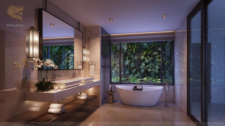 Phòng tắm tiêu chuẩn 5* mang đến cho bạn sự thoải mái nhất