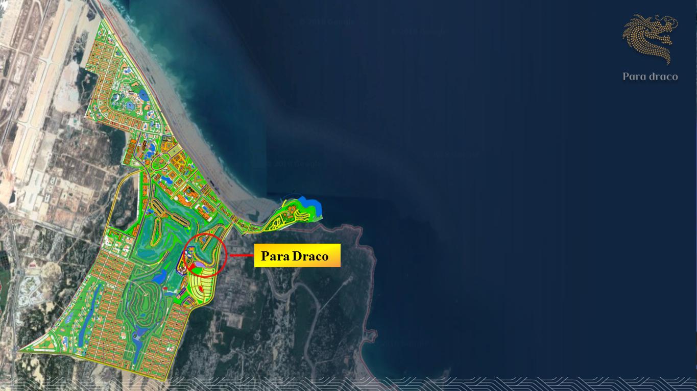 Vị trí của Biệt thự Biển PARA DRACO