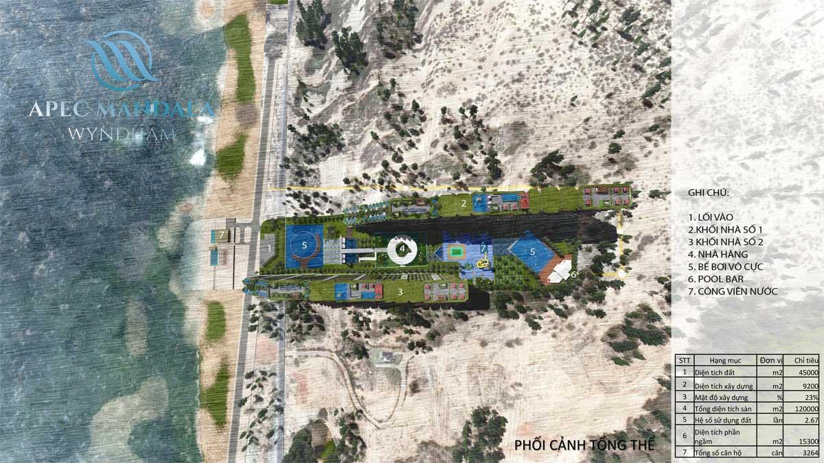 Mặt bằng Dự án Apec Mandala Wyndham Mũi Né Phan Thiết