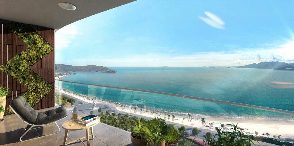 Toàn bộ căn hộ đều có ban công view biển