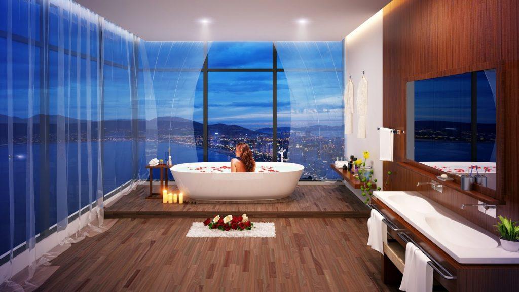 Phòng tắm đẳng cấp 5 sao tại Condotel Quy Nhon Melody