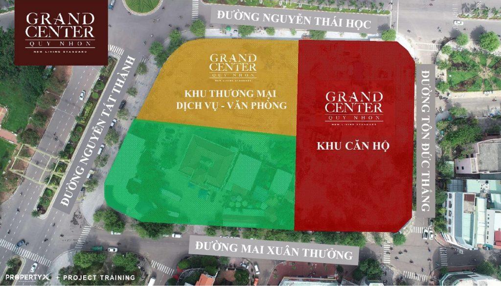 Mặt bằng lô đất Căn hộ Grand Center Quy Nhon