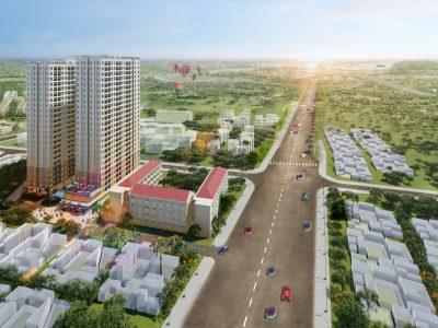 Phối cảnh tổng thể dự án Căn Hộ chung cư Bcons Green View Bình Dương