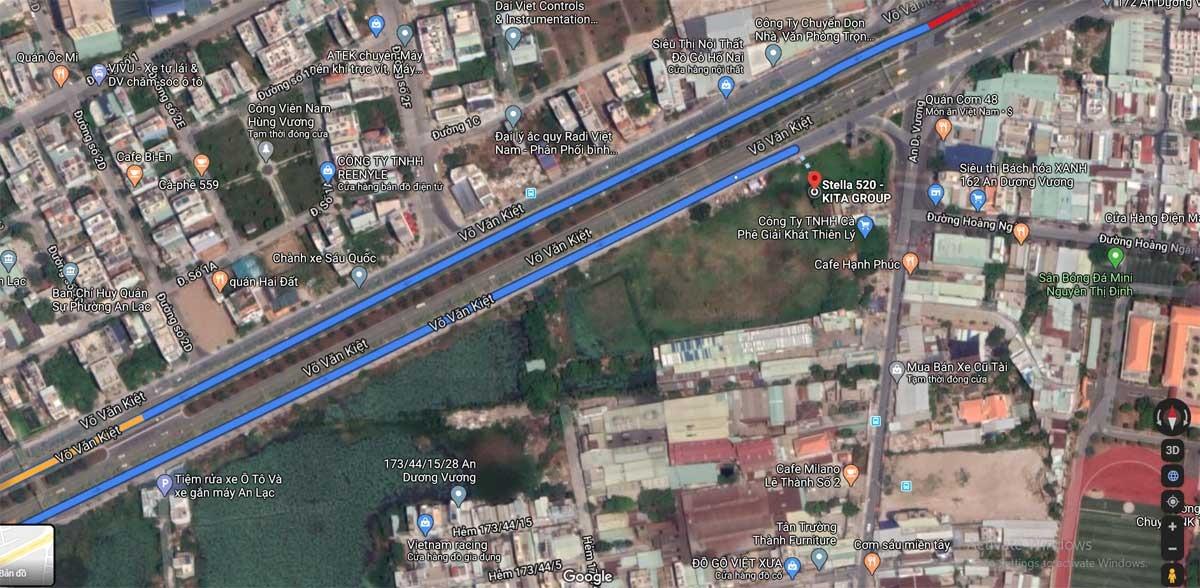 Vị trí căn hộ Stella En Tropic Võ Văn Kiệt Bình Tân